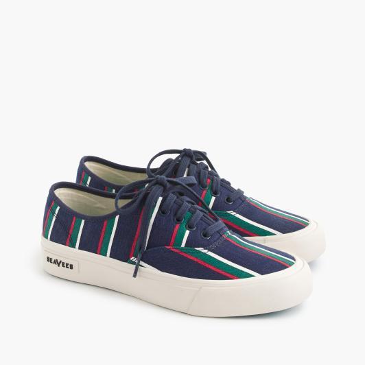 SeaVees navy stripe