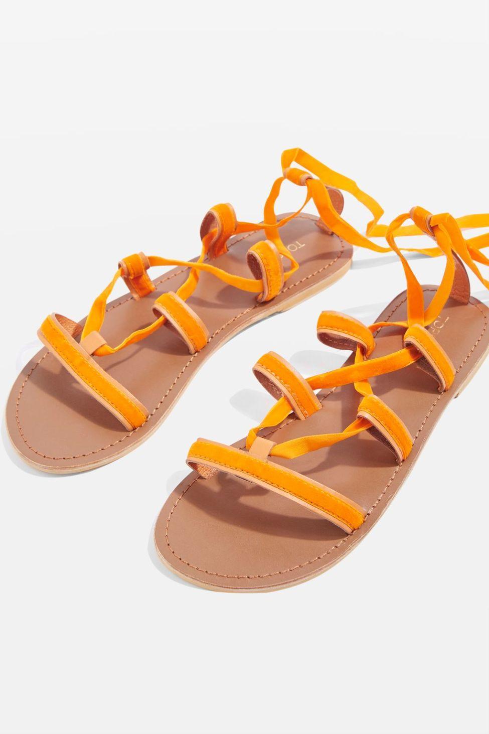 Topshop velvet sandals
