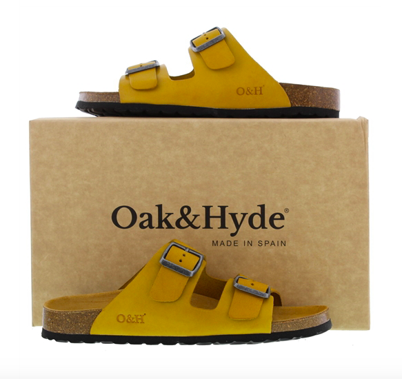 Oak and Hyde yellow sandals