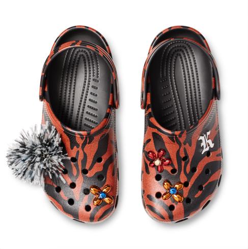 Crocs x Christopher Kane red
