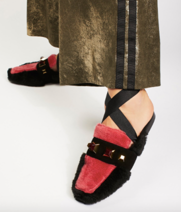 Free People furry loafers