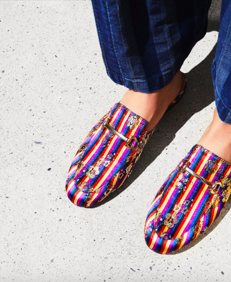 Free People striped loafers