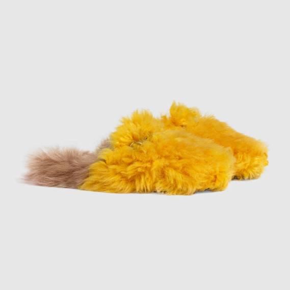 Gucci furry Princetown loafers