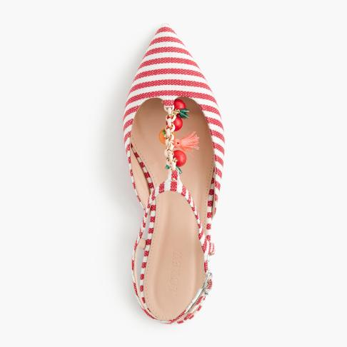 J Crew striped shoe