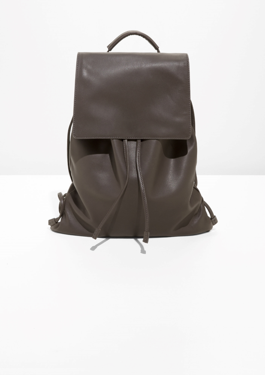 & Other Stories leather rucksack