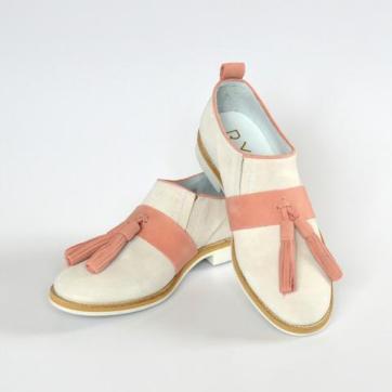 RYG salmon suede shoe