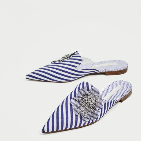 Zara striped shoe
