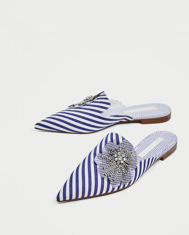 Zara striped shoe