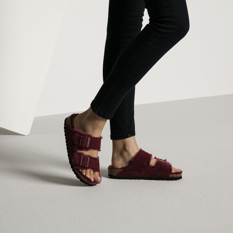Birkenstock Arizona shearling burgundy