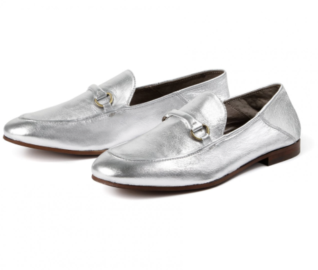 Hudson silver loafers