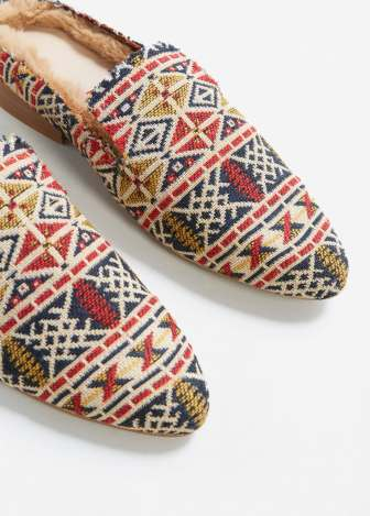 Mango tapestry loafers