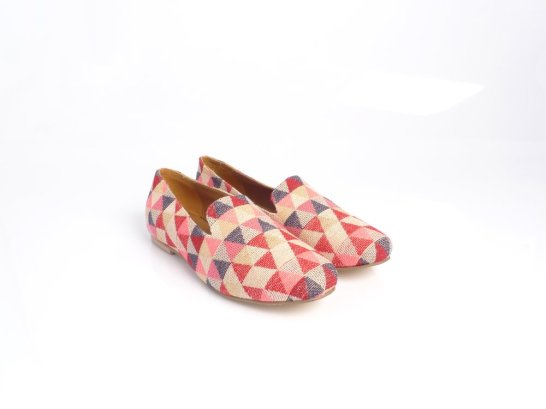 Tint London geometric loafers