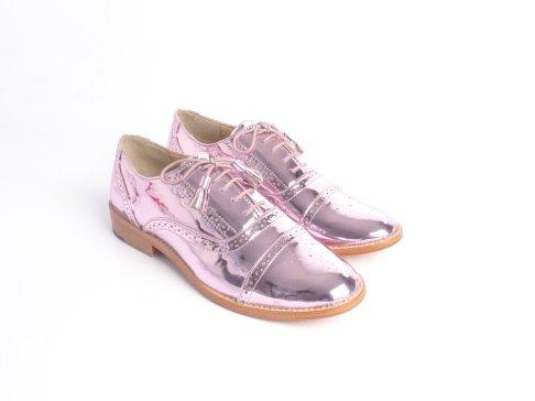 Tint London metallic pink brogues