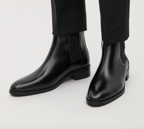 COS black Chelsea boots