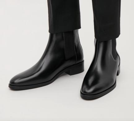 COS black Chelsea boots