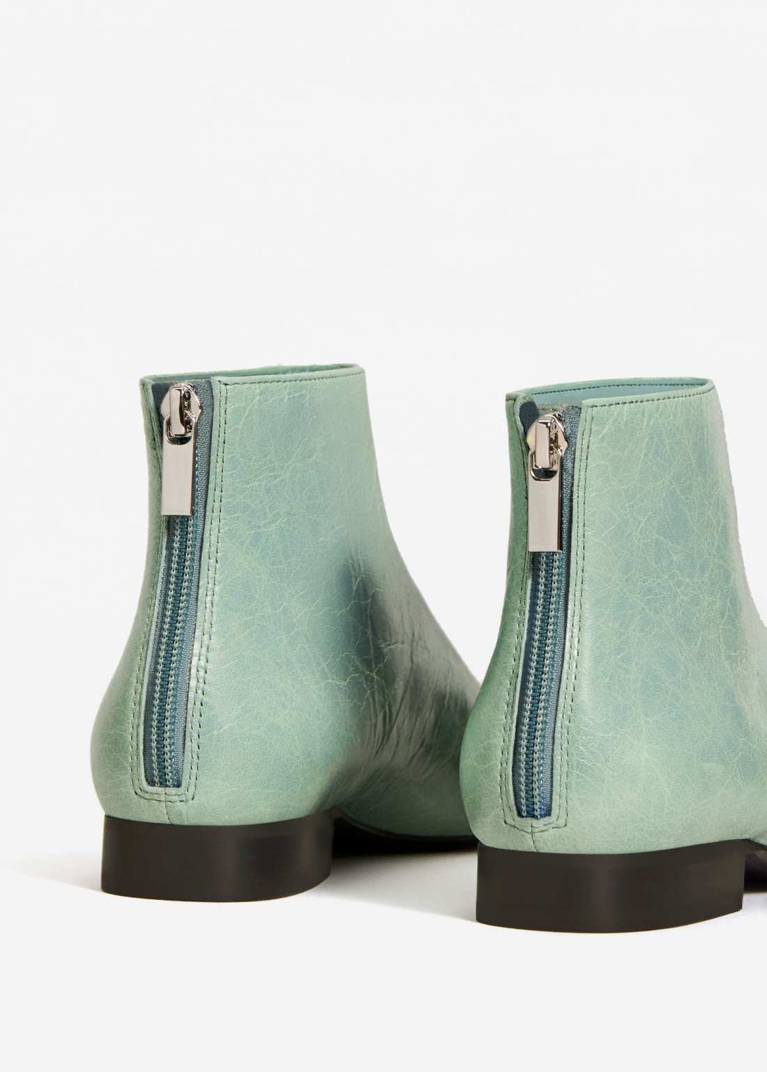 Mango green ankle boots
