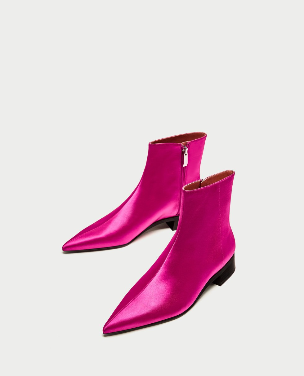 Zara pink ankle boots
