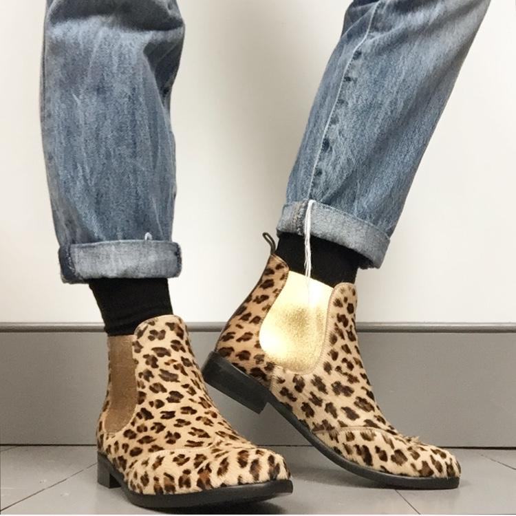 En Brogue wearing Catherine Parra leopard boots