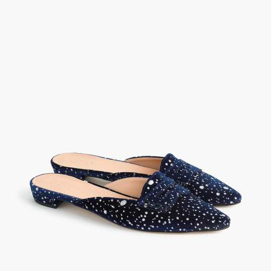 J Crew speckled mules