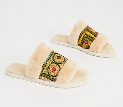 Free People beige slippers