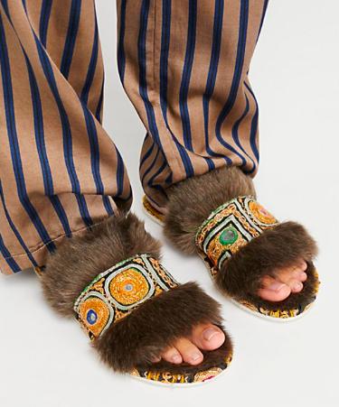 Free People brown slippers