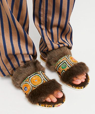 Free People brown slippers