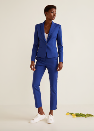 Mango blue suit