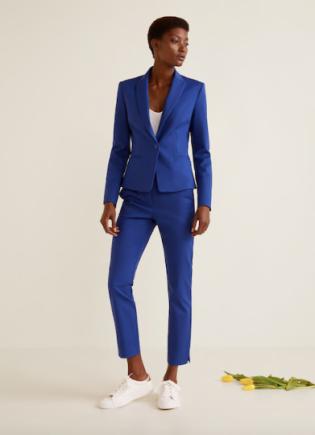 Mango blue suit