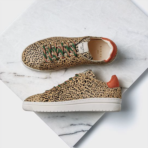 Nubikk leopard trainers