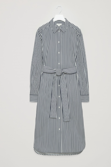 COS striped shirt dress