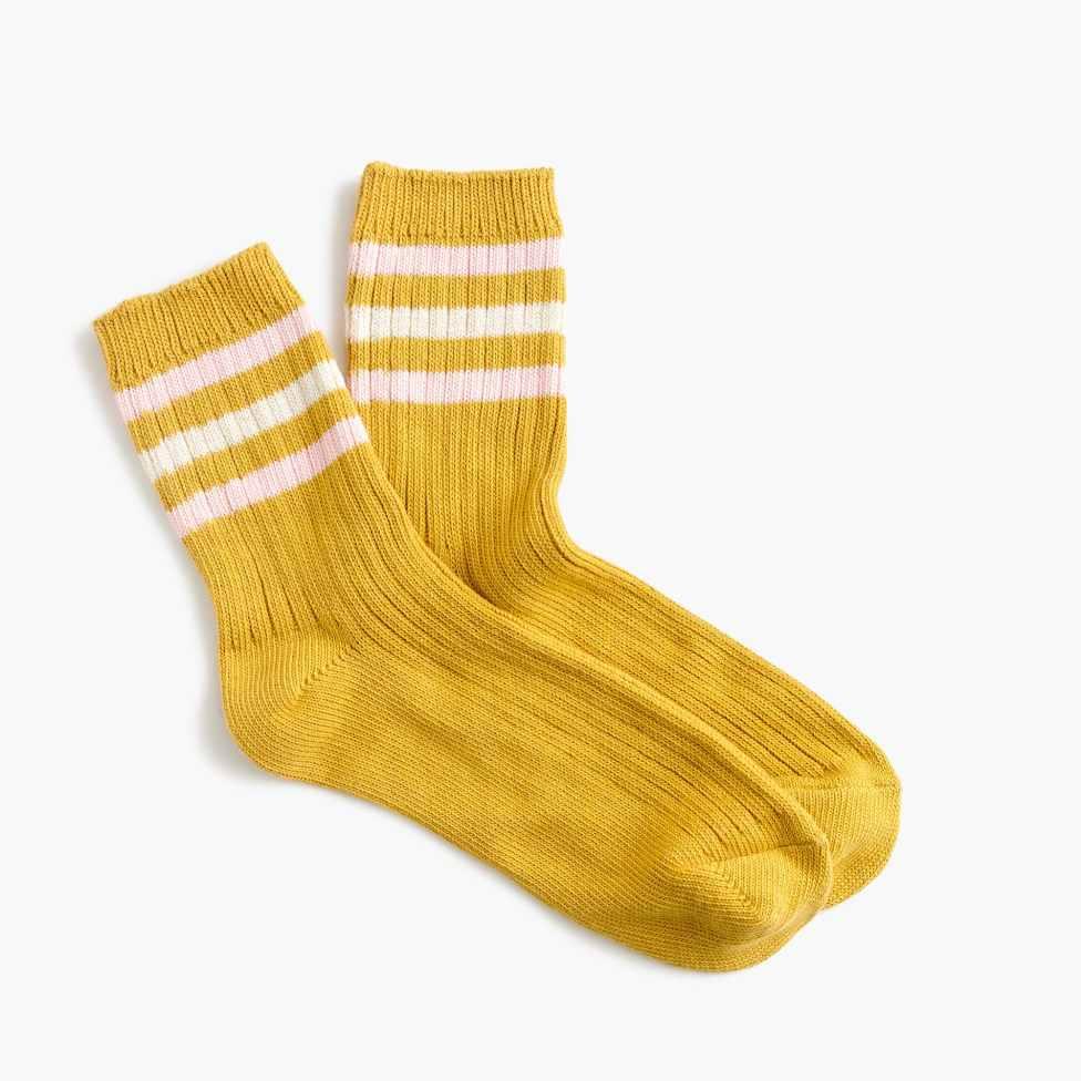 J Crew yellow socks