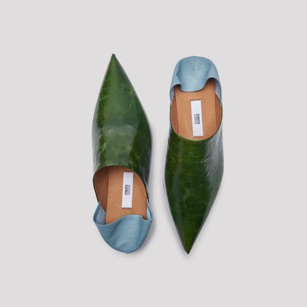 Miista Fernan Forest leather flats
