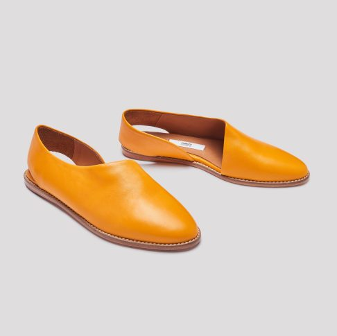 Miista Gala mandarin leather flats