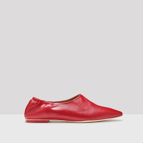 Miista Georgette red leather flats