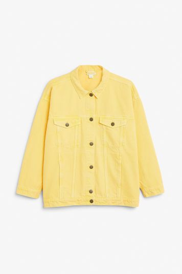Monki yellow denim jacket