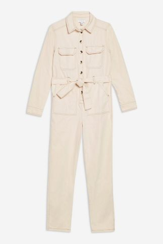 Topshop cream boiler suit