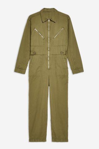 Topshop olive boiler suit