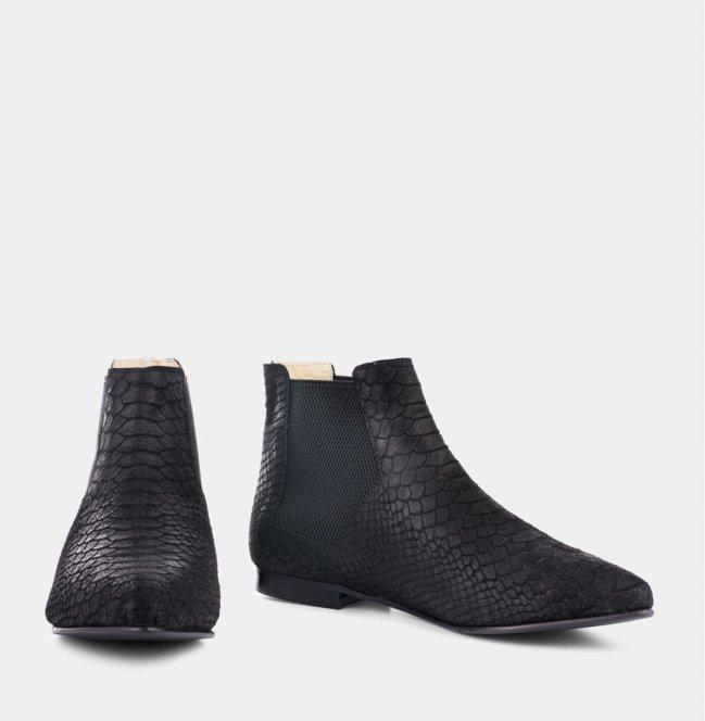 Ivy Lee black croc boots