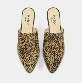 Ivy Lee leopard mules