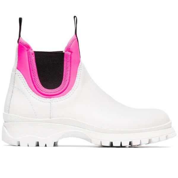 Prada white Chelsea boots