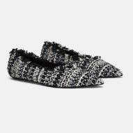 Zara tweed flats